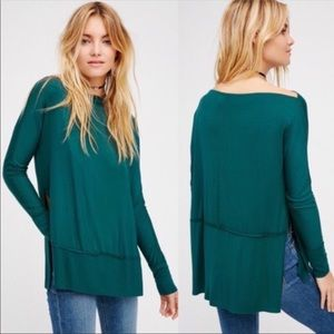 NWT Free People Luna Long Sleeve Tee Size M